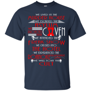 We live in the murder house t-shirt