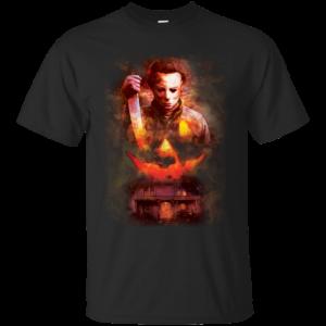 Halloween Michael Myers Pumpkin T-shirt