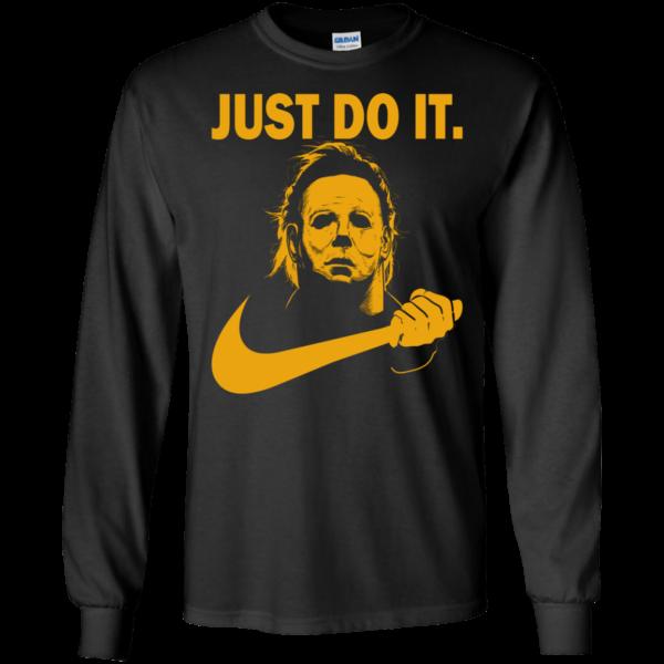 Halloween michael myers just do it t-shirt