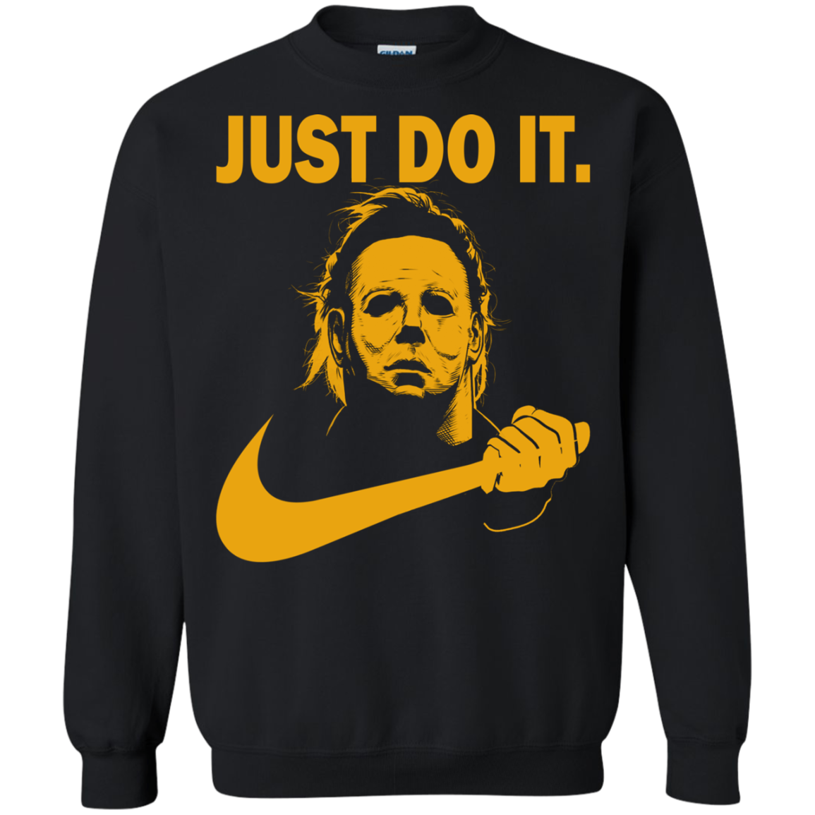 halloween michael myers just do it t shirt michael myers shirt. Black Bedroom Furniture Sets. Home Design Ideas