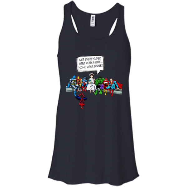 Nurse and Superheroes – Not Every Super hero wears a cape some wear scrubs t-shirt