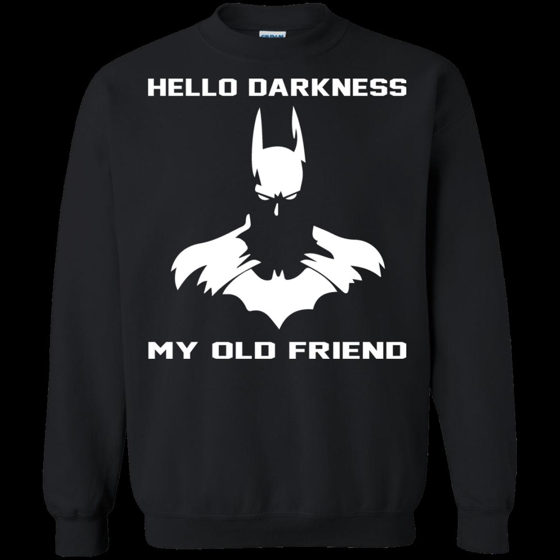 batman hello darkness my old friend t shirt. Black Bedroom Furniture Sets. Home Design Ideas