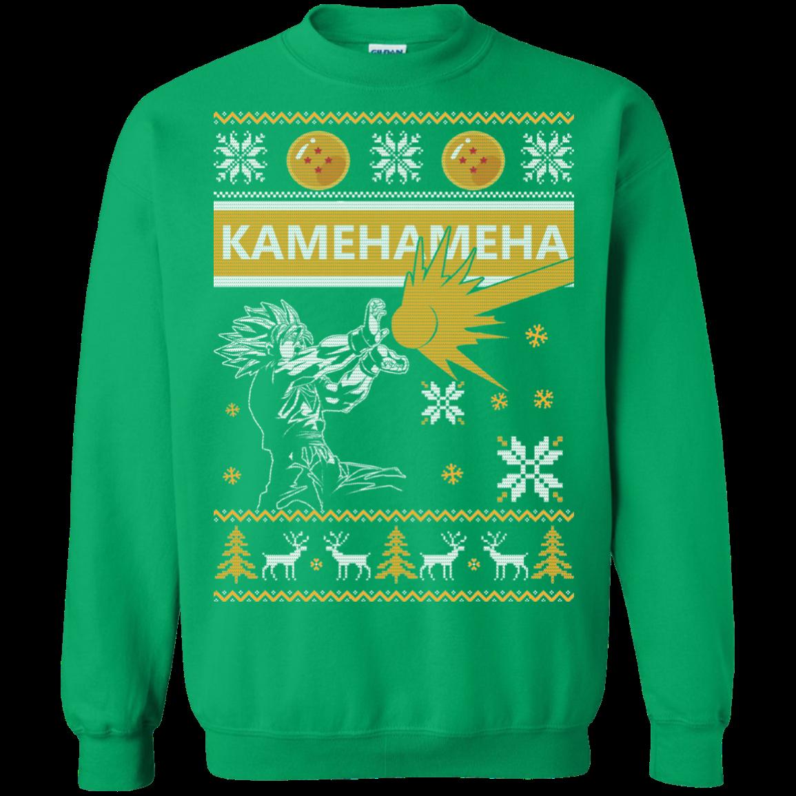 Songoku - Kamehameha Christmas Sweatshirt - Allbluetees - Online T ...