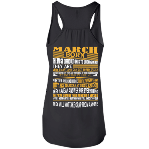 March Born – The Most Difficult Ones To Understand Shirt – Back Design
