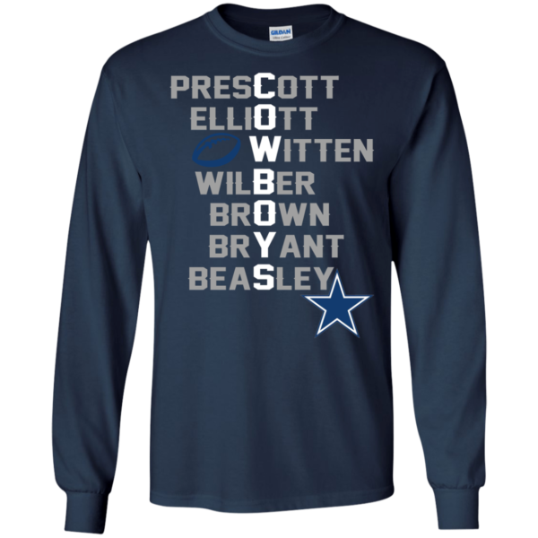 Dallas Cowboys – Prescott, Elliott, Witten, Wilber, Brown, Bryant, Beasley T-Shirt
