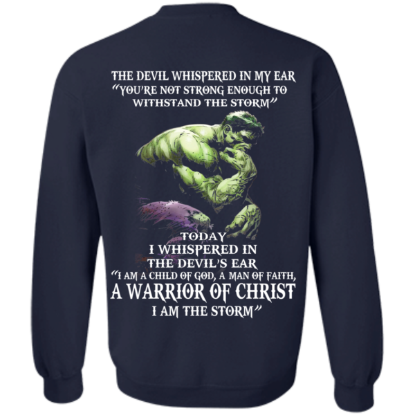 Hulk – Devil Whispered – I Am A Child Of God, A Man Of Faith T-Shirt