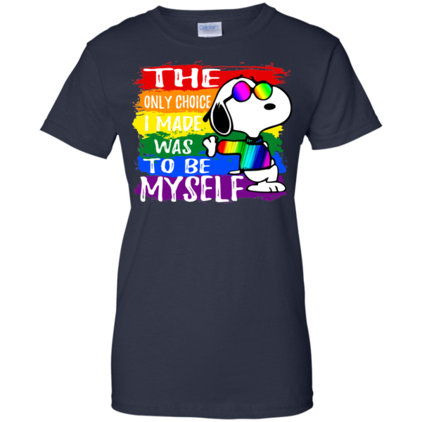 Snoopy – The Only Choice I Made Was To Be Myself Shirt, Hoodie