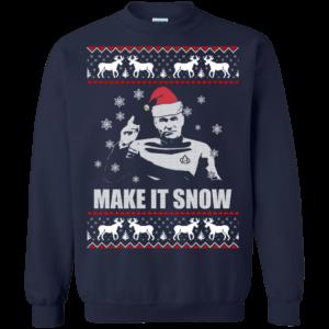 Star Trek Make it Snow Christmas Swearshirt