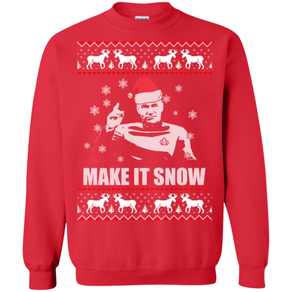 Star Trek Make it Snow Christmas Swearshirt