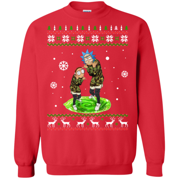 Rick And Morty Supreme Christmas Sweatshirt