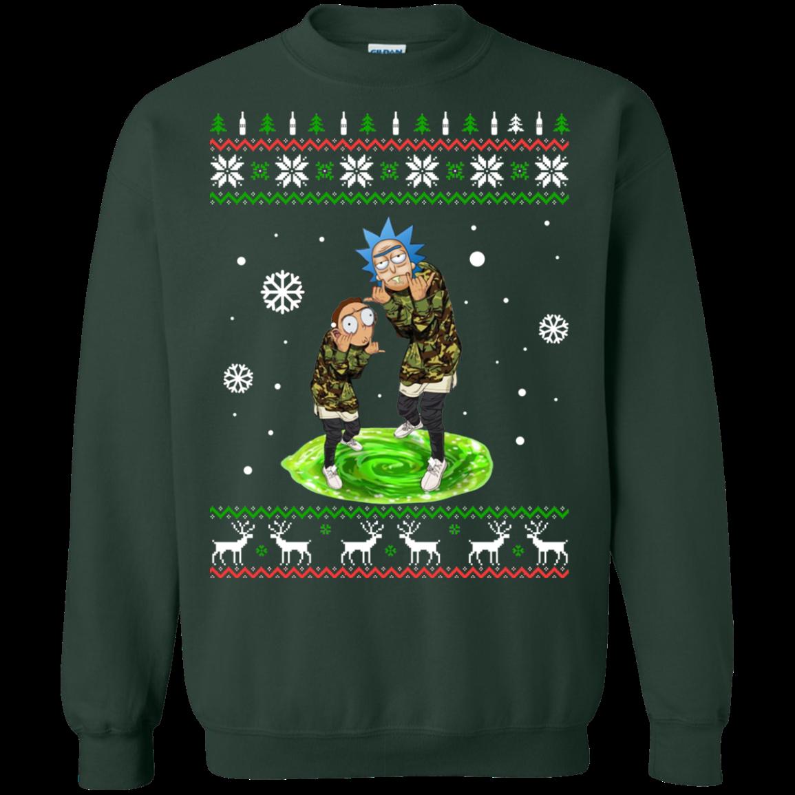 Rick And Morty Supreme Christmas Sweatshirt Allbluetees