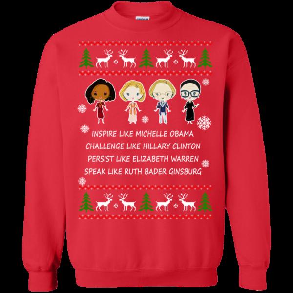 Nasty Women – Michelle – Hillary – Warren – Bader Christmas Sweatshirt
