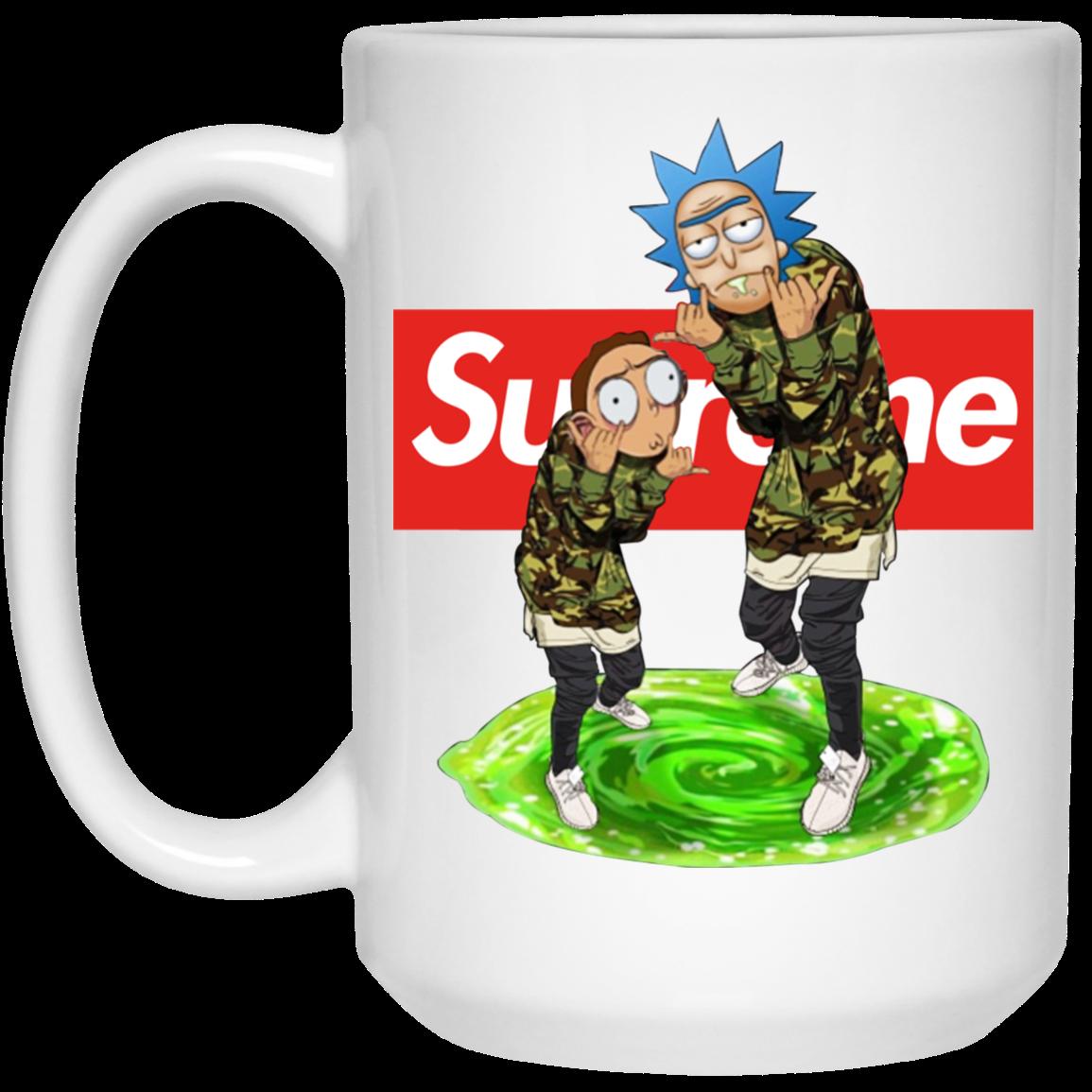 Rick And Morty Supreme Mugs   AllBlueTees Com
