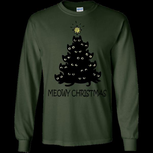Meowy Christmas Shirt, Sweatshirt, Hoodie