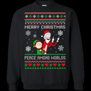 Rick and Morty – Merry Christmas Peace Among Worlds Sweatshirt