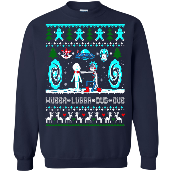 Rick And Morty – Wubba Lubba Dub Dub Christmas Sweatshirt