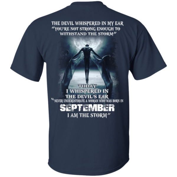 Devil Whispered – Never Underestimate A Woman Who Was Born In September T-shirt