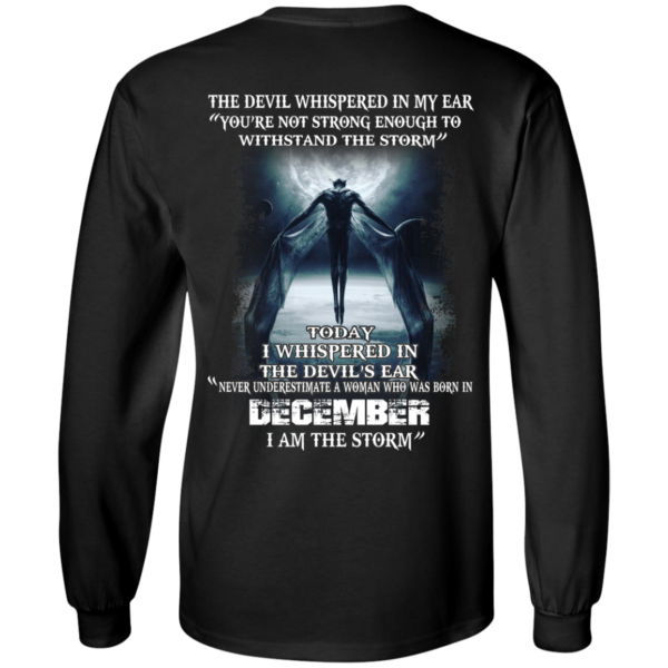 Devil Whispered – Never Underestimate A Woman Who Was Born In December T-shirt