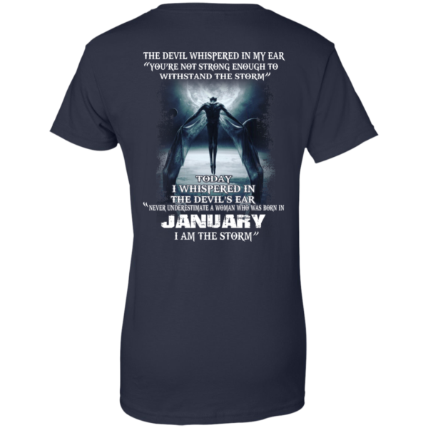 Devil Whispered – Never Underestimate A Woman Who Was Born In January T-shirt