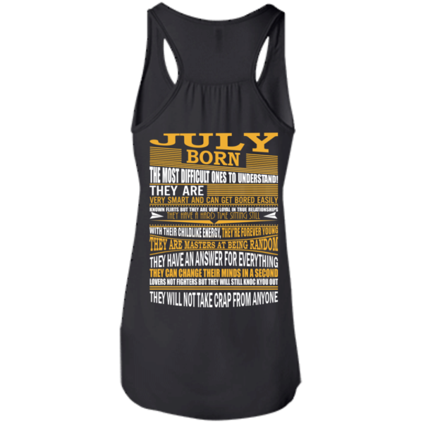 July Born – The Most Difficult Ones To Understand Shirt – Back Design