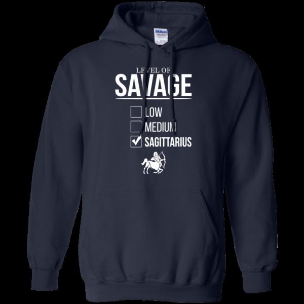 Level Of Savage Sagittarius Shirt, Hoodie, Tank