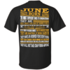 June Born – The Most Difficult Ones To Understand Shirt – Back Design