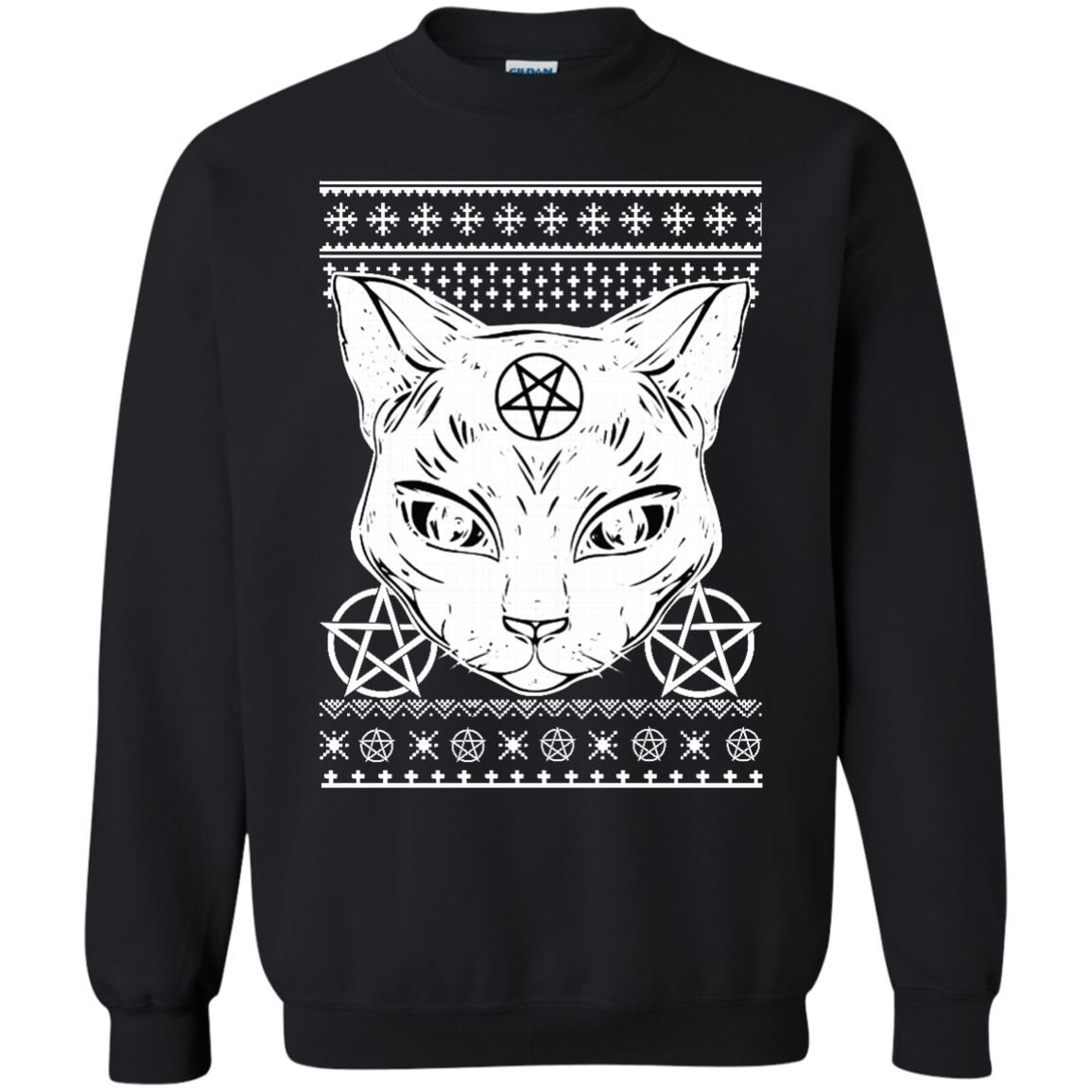 Ugly Christmas Sweater Cat.Sathan The Cat Ugly Christmas Sweater