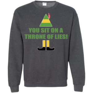 Buddy The Elf – You Sit On A Throne Of Lies Christmas Sweater