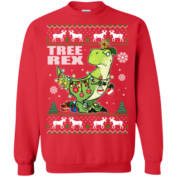 Tree Rex – T-rex Christmas Ugly Sweater