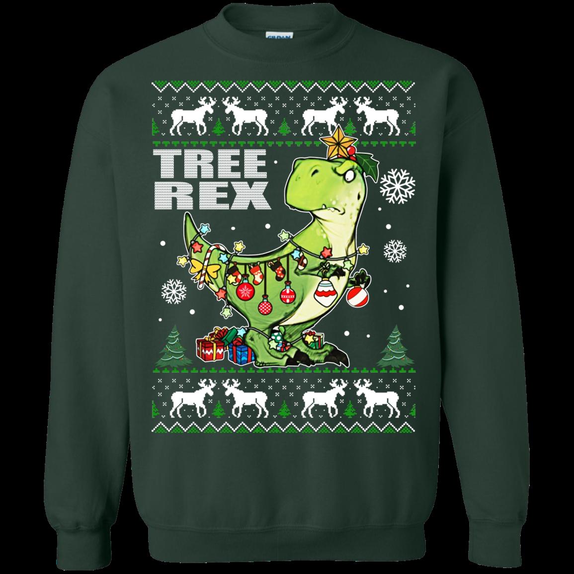 T Rex Christmas.Tree Rex T Rex Christmas Ugly Sweater