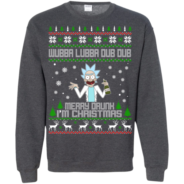 Rick And Morty – Wubba Lubba Dub Dub Merry Drunk I'm Christmas Sweater
