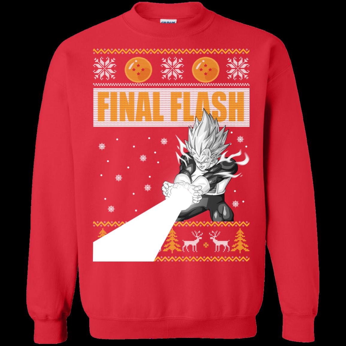 Vegeta Final Flash Christmas Sweater Allblueteescom
