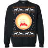 Rick and Morty Screaming Sun Ugly Christmas Sweater