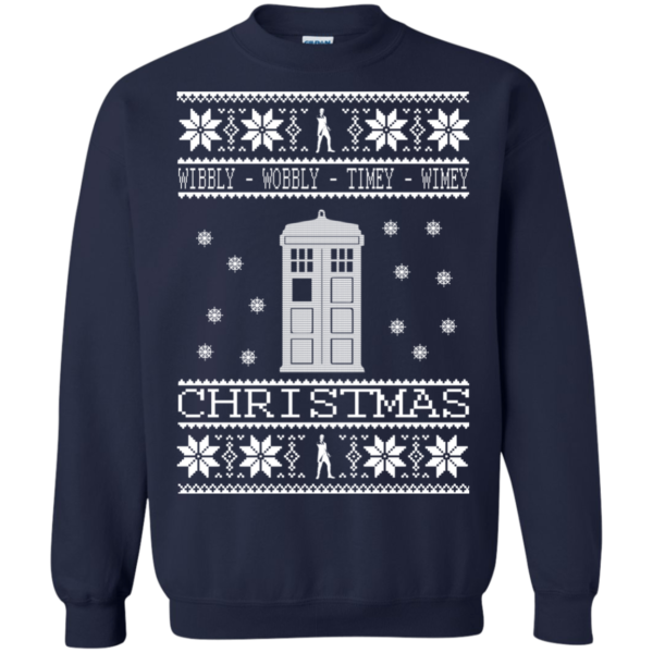 Doctor Who Wibbly Wobbly Timey Wimey Christmas Sweater
