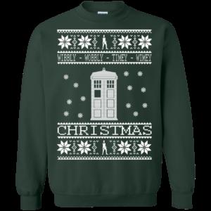 Doctor Who Wibbly Wobbly Timey Wimey Christmas Sweater