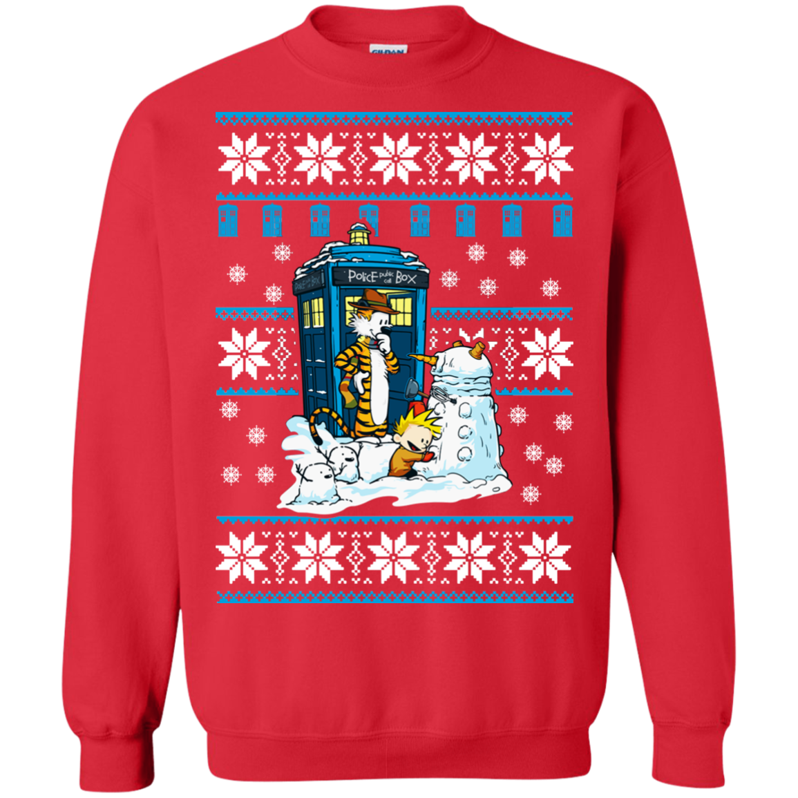 Doctor Who Calvin Dalek Christmas Sweater Allblueteescom