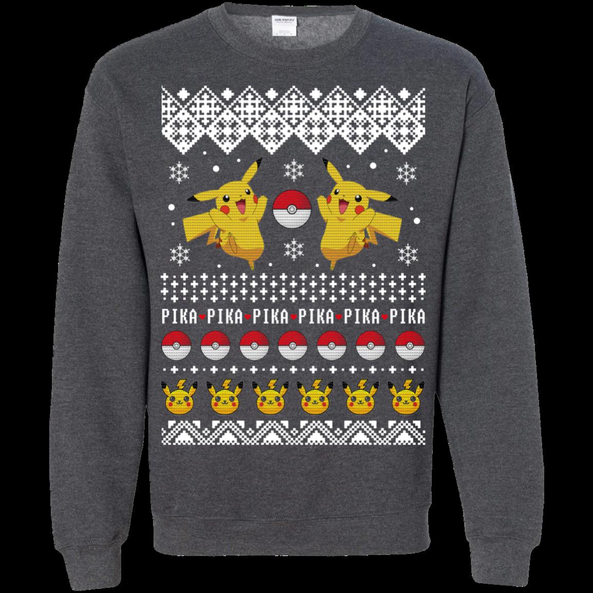 Pokemon Christmas Sweater.Pokemon Pikachu Pika Pika Christmas Sweater