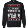 It's The Most Wonderful Time For A Beer Christmas Sweater