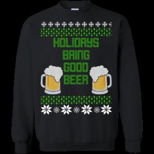 Holidays Bring Good Beer Christmas Sweater