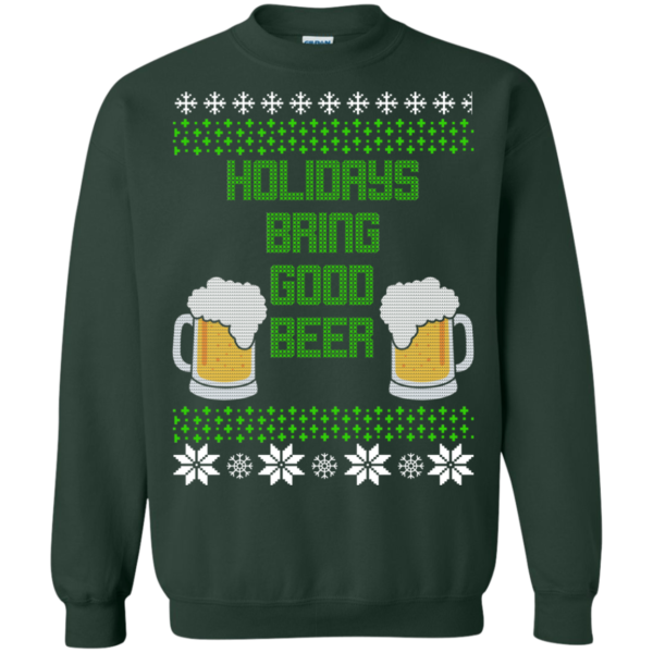 Holidays Bring Good Beer Christmas Sweater