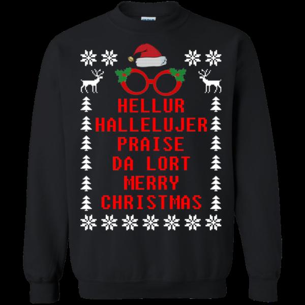 Hellur Hallelujer Praise Da Lort Merry Christmas Sweater
