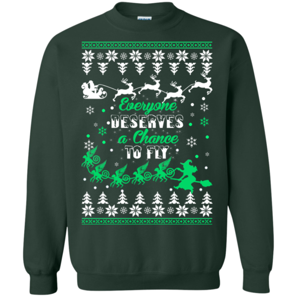 Everyone Deserves A Chance To Fly Christmas Sweater