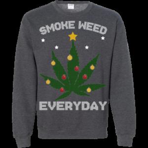 Cannabis Chistmas Tree – Smoke Weed Everyday Sweater