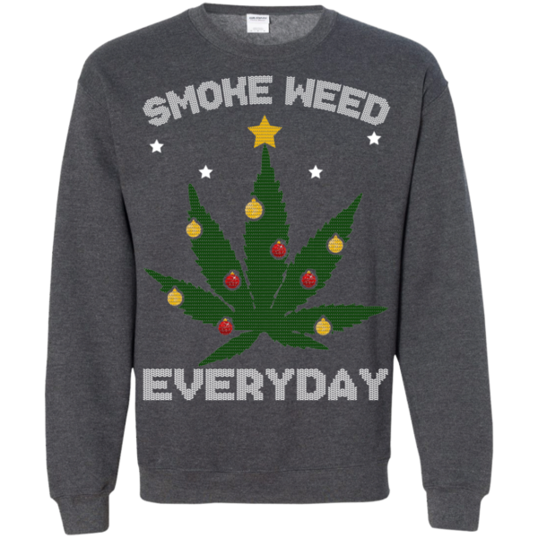 Cannabis Chistmas Tree – Smoke Weed Everyday Sweater