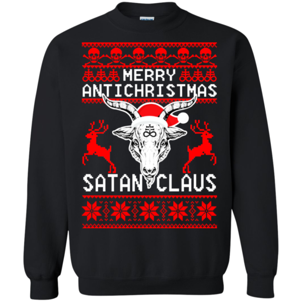 Merry Antichristmas Satan Claus Christmas Sweater