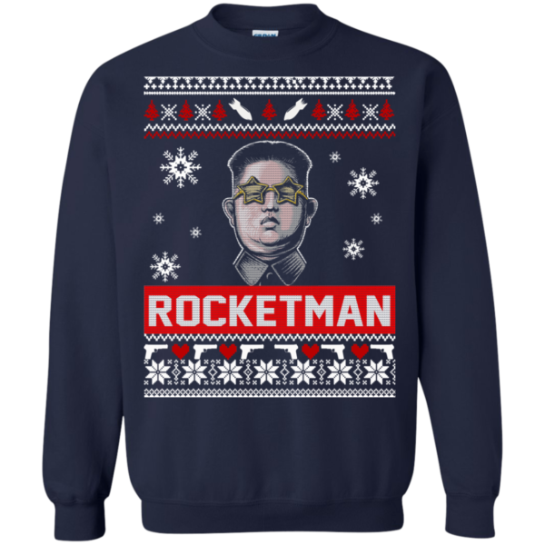 Kim Jong Un Rocket Man Christmas Sweater