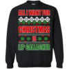 All i want for christmas is lip gallagher christmas sweater