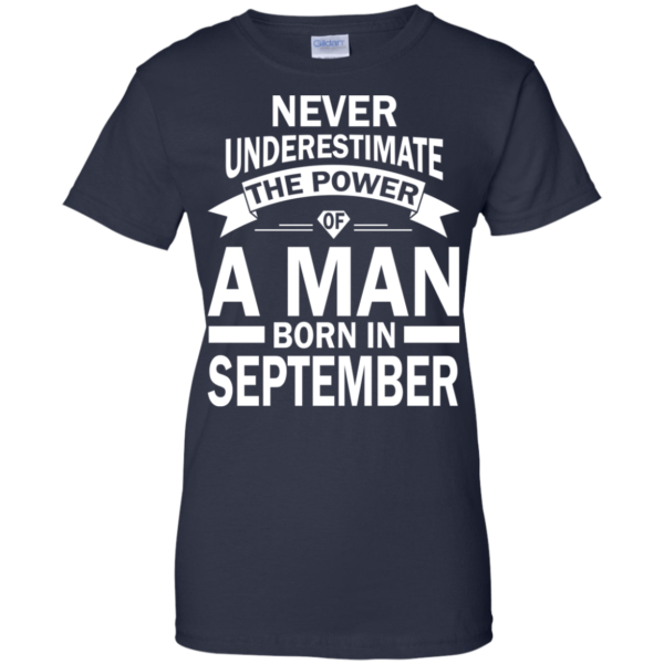 Never Underestimate The Power Of A Man Born In September T-shirt