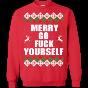 Merry Go Fuck Yourself Christmas Sweater