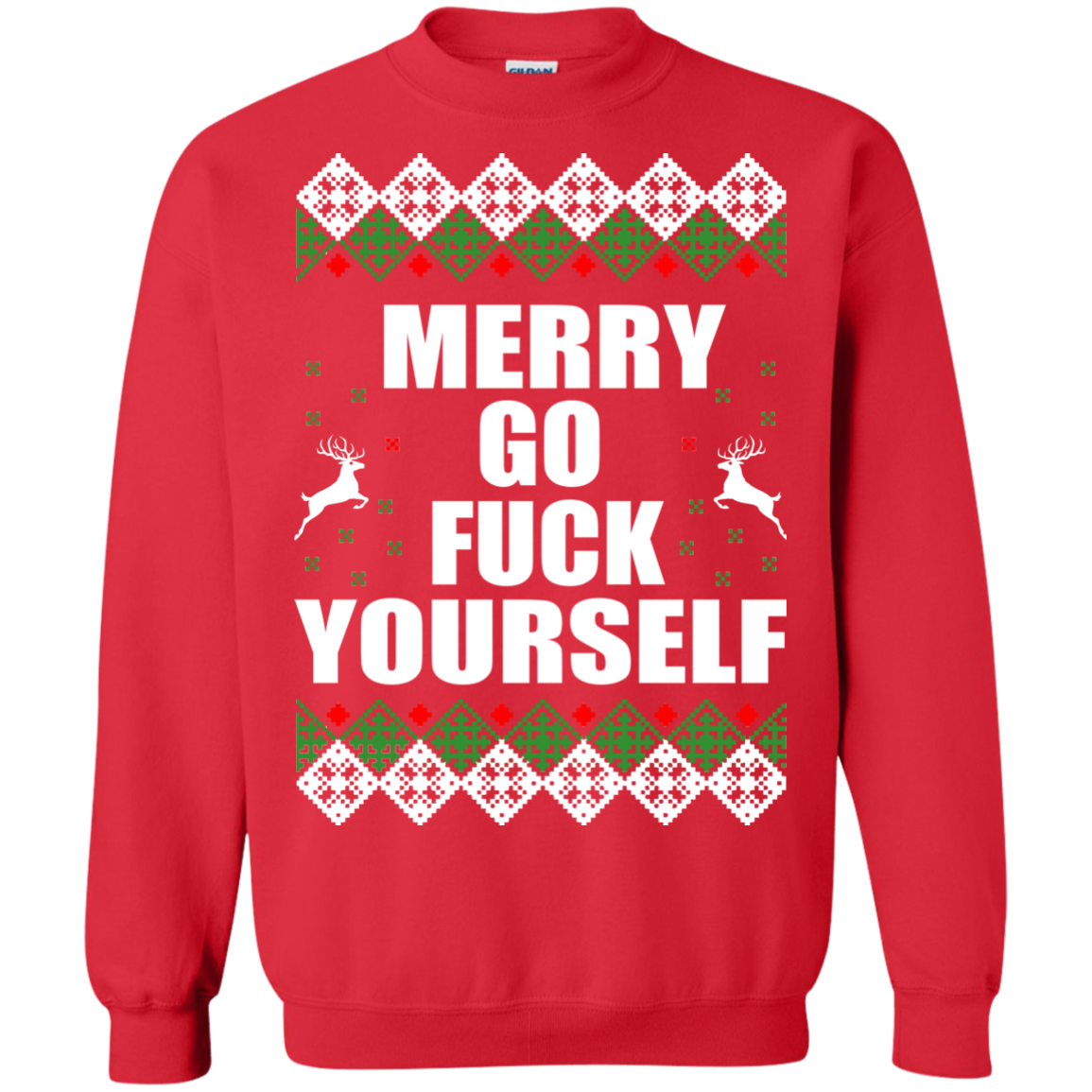 69b1a51b041 Merry Go Fuck Yourself Christmas Sweater